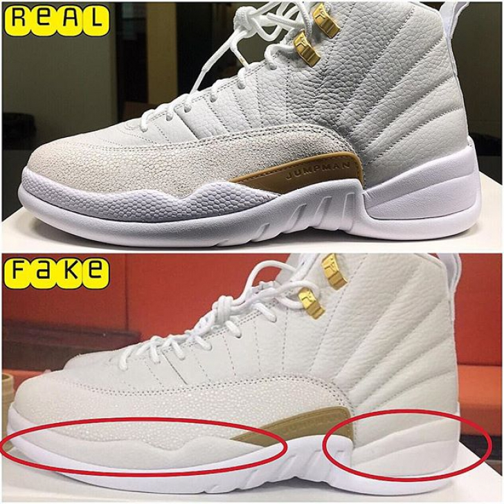 san francisco 0b64d ab3fa How to Spot Real vs. Fake 'Jordan 12 OVO' Sneakers - Next ...